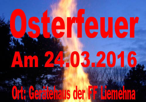 Osterfeuer 2016 FF Liemehna